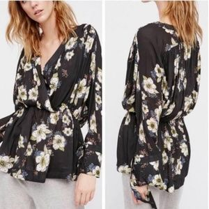 Free People Floral Tunic / Dress Top